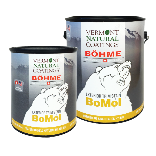 Bohme Low VOC BoMol Exterior Trim Stain - Vermont Natural Coatings - Non Toxic Paint Supply
